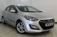 USED 2013 13 HYUNDAI I30 1.6 CRDI EDITION BLUE DRIVE 5DR 109 BHP SERVICE HISTORY + PARKING SENSOR + BLUETOOTH + CRUISE CONTROL + MULTI FUNCTION WHEEL + AIR CONDITIONING + 16 INCH ALLOY WHEELS