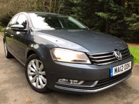 USED 2012 12 VOLKSWAGEN PASSAT 2.0 SE TDI BLUEMOTION TECHNOLOGY 4d 139 BHP