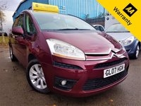 USED 2007 07 CITROEN C4 PICASSO 2.0 VTR PLUS HDI 5STR EGS 5d 135 BHP! p/x welcome! AUTO! PANAROMIC WIND-SCREEN! BOTTLE CHILLER! FULL SRVC HIST! PARKING AID! CRUISE & CLIMATE CONTRL! 3 ISOFIX REAR! EXTRA STORAGE! NEW MOT & SRVC! AUTO+PARKING AID+BOTTLE CHILLER+PANROMIC WIND-SCREEN+FULL S-HIST+CRUISE&CLIMATE CNTRL+EXTRA STORAGE+NEW MOT & SRVC!
