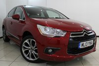 USED 2013 13 CITROEN DS4 1.6 HDI DSTYLE 5DR 115 BHP SERVICE HISTORY + HALF LEATHER SEATS + SAT NAVIGATION + BLUETOOTH + PARKING SENSOR + CRUISE CONTROL + MULTI FUNCTION WHEEL + 18 INCH ALLOY WHEELS