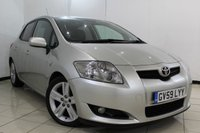 USED 2009 59 TOYOTA AURIS 2.2 SR 180 D-CAT 5DR 174 BHP CRUISE CONTROL + MULTI FUNCTION WHEEL + AIR CONDITIONING + RADIO/CD + 17 INCH ALLOY WHEELS
