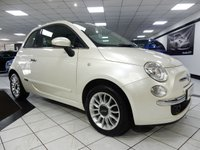 USED 2012 62 FIAT 500C 1.2 LOUNGE 69 BHP PEARL WHITE LADY OWNED 5 STAMP