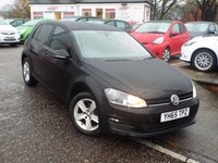 USED 2015 65 VOLKSWAGEN GOLF 1.6 MATCH TDI BLUEMOTION TECHNOLOGY 5d 109 BHP FULL Volkswagen Service History