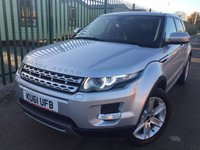 USED 2012 61 LAND ROVER RANGE ROVER EVOQUE 2.2 SD4 PRESTIGE 5d 190 BHP PAN ROOF SAT NAV LEATHER 19 ALLOYS FSH NO FINANCE REPAYMENTS FOR 2 MONTHS STC. 4WD. PANORAMIC SUNROOF. SATELLITE NAVIGATION. REAR SPOILER. STUNNING SILVER MET WITH FULL BLACK LEATHER TRIM. ELECTRIC MEMORY HEATED SEATS. CRUISE CONTROL. 19 INCH ALLOYS. COLOUR CODED TRIMS. PRIVACY GLASS. PARKING SENSORS. REVERSING CAMERA. ELECTRIC TAILGATE. BLUETOOTH PREP. AIR CON. MULTIMEDIA SYSTEM. R/CD/DAB RADIO. 6 SPEED MANUAL. MFSW. DETACHABLE TOWBAR. MOT 10/18. ONE PREV OWNER. FULL SERVICE HISTORY. FCA FINANCE APPROVED DEALER. TEL 01937 849