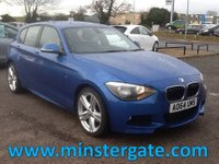 2014 BMW 1 SERIES 2.0 118D M SPORT 5d 141 BHP * LEATHER, BMW HISTORY, £30 TAX * £12990.00