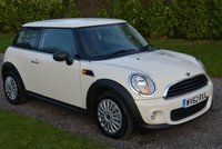 2012 MINI HATCH ONE 1.6 ONE 3d 98 BHP £4995.00