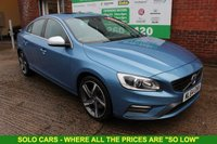 USED 2014 64 VOLVO S60 1.6 D2 R-DESIGN LUX NAV 4d 113 BHP +SAT NAV +Bluetooth +LEATHER.