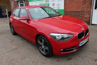 USED 2013 63 BMW 1 SERIES 2.0 118D SPORT 5d 141 BHP +Black LEATHER Seats +EXTRAS.