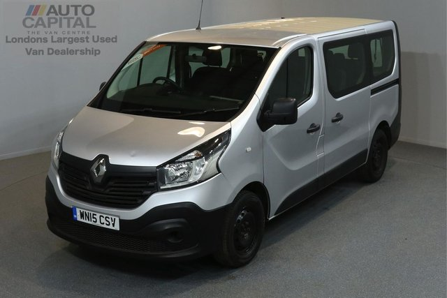 2015 15 RENAULT TRAFIC 1.6 SL27 BUSINESS DCI 5d 90 BHP SWB 9 SEAT MINIBUS ECO DRIVE POWER WINDOWS AND MIRRORS ONE OWNER FROM NEW