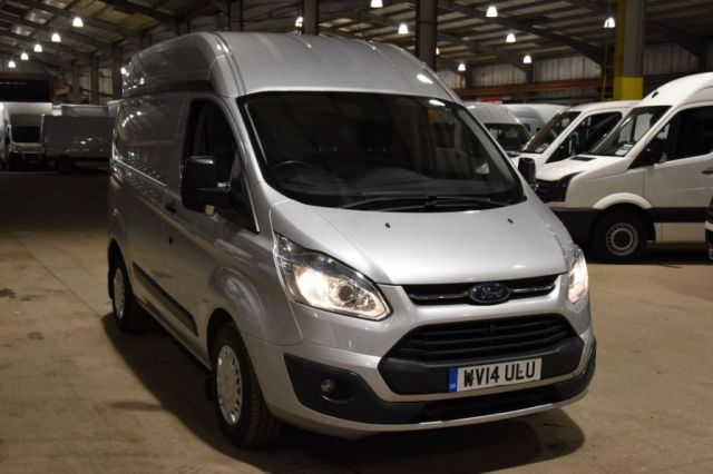 2014 14 FORD TRANSIT CUSTOM 2.2 310 TREND LR P/V 5d 125 BHP SWB FWD H/ROOF AIR CON DIESEL PANEL MANUAL VAN ONE OWNER FULL S/H RARE VAN