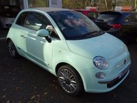 USED 2015 15 FIAT 500 1.2 CONVERTIBLE LOUNGE 3d 69 BHP One Lady Owner from new, Just Serviced by ourselves, NEW MOT (minimum 9 months), Excellent on fuel economy! Only £30 Road Tax! Balance Fiat Warranty until 2018, Convertible