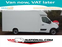 2014 VAUXHALL MOVANO 2.3 F3500 L3H1 LUTON LOW LOADER 125 BHP( 4.2 METRE LOAD AREA) £14500.00