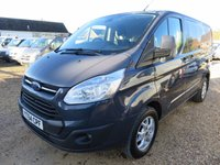 2014 FORD TRANSIT CUSTOM 2.2 TDCi 270 LIMITED SWB LOW ROOF 125 BHP WITH TAILGATE £12950.00