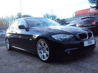 USED 2009 09 BMW 3 SERIES 2.0 318I M SPORT 4d 141BHP FSH+2KEYS+SATNAV+MEDIA+USB+CD+