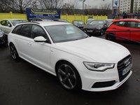 USED 2013 63 AUDI A6 3.0 AVANT TDI S LINE BLACK EDITION 5d AUTO 204 BHP WAS £19,995 NOW ONLY £18,995 !!