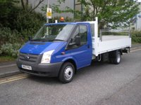 2012 FORD TRANSIT 2.2 350 100 RWD 1d 99 BHP PICKUP/DROPSIDE WITH TAIL LIFT £7990.00