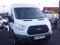 2015 FORD TRANSIT 2.2 350 SHR P/V L3 H2 124 BHP LONG WHEELBASE HIGH ROOF SAT NAV AIR CON £11995.00