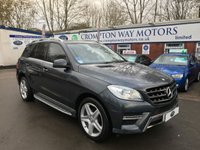USED 2013 13 MERCEDES-BENZ M CLASS 2.1 ML250 BLUETEC AMG SPORT 5d 204 BHP 0% FINANCE AVAILABLE ON THIS CAR PLEASE CALL 01204 317705