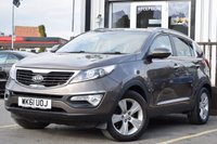 USED 2011 61 KIA SPORTAGE 2.0 CRDI KX-2 5d 134 BHP 6 STAMPS FULL SERVICE HISTORY, TWIN SUROOFS, LONG MOT, GREAT SPEC & COLOUR
