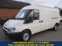 2005 FORD TRANSIT 350 LWB MED ROOF WITH NO VAT TO PAY & FULL HISTORY £4295.00