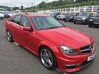 USED 2013 13 MERCEDES-BENZ C CLASS 6.2 C63 AMG Saloon Auto 457 BHP Only 19,000 miles, Black & Cream Duotone leather plus more