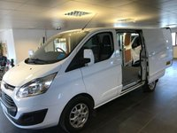 2014 FORD TRANSIT CUSTOM 2.2 270 LIMITED LR P/V 1d 124 BHP £11950.00