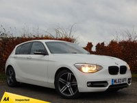 USED 2013 63 BMW 1 SERIES 1.6 116I SPORT 5d 128 POINT AA INSPECTION & 12 MONTHS FREE AA MEMBERSHIP