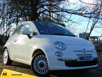 USED 2012 12 FIAT 500 1.2 LOUNGE 3d 69 BHP FULL 128 POINT INSPECTION BY THE AA