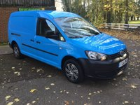 2011 VOLKSWAGEN CADDY MAXI 1.6 C20 TDI 1d 101 BHP GENUINE LOW MILES, NEW MOT AND JUST SERVICED