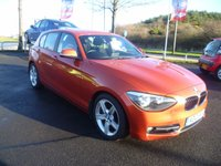2012 BMW 1 SERIES 2.0 116D SPORT 5d 114 BHP £8975.00