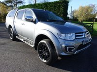 USED 2014 64 MITSUBISHI L200 BARBARIAN BLACK Automatic 4X4 Double Cab Pick Up  2.5 DI-D 175Ps Limited Edition Barbarian Black Automatic Double Cab With Only 16000 Miles & Many Aditional Extras