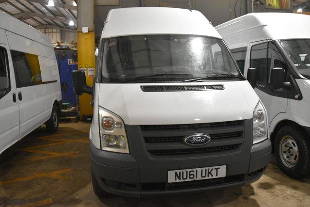 2011 61 FORD TRANSIT 2.4 350 H/R 5d 115 BHP LWB RWD 6 SEATER COMBI DIESEL MANUAL VAN ONE OWNER FULL S/H SPARE KEY