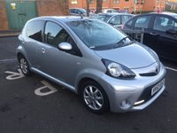 USED 2013 63 TOYOTA AYGO 1.0 VVT-I MODE MM AC 5d AUTO 68 BHP AUTOMATIC WITH ALLOY WHEELS, AIR CONDITIONING AND PRIVACY GLASS!!..EXCELLENT FUEL ECONOMY!!..LOW CO2 EMISSIONS..£20 ROAD TAX!..FULL HISTORY..ONLY 16821 MILES FROM NEW!!