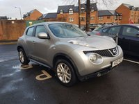 USED 2013 13 NISSAN JUKE 1.6 ACENTA 5d 117 BHP WITH CLIMATE CONTROL, ALLOY WHEELS!!..EXCELLENT FUEL ECONOMY!!..LOW CO2 EMISSIONS(139G/KM) LOW ROAD TAX!!..FULL HISTORY...ONLY 9578 MILES FROM NEW!!