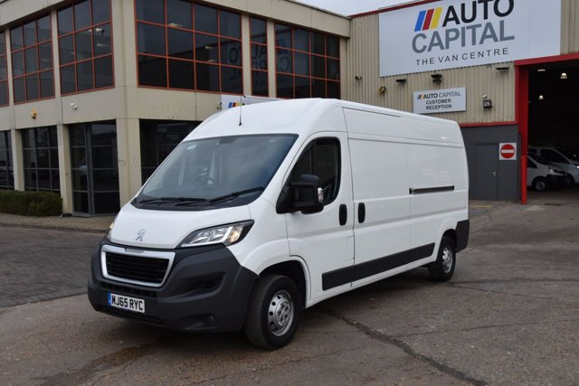 2015 65 PEUGEOT BOXER 2.2 HDI 335 L3H2 PROFESSIONAL LWB P/V 5d 130 BHP AIR CON FWD DIESEL PANEL VAN ONE OWNER FULL S/H SPARE KEY