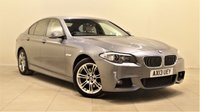 USED 2013 13 BMW 5 SERIES 2.0 520D M SPORT 4d 181 BHP + 1 PREV OWNER +  SAT NAV + AIR CON + AUX + BLUETOOTH