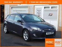 USED 2012 12 FORD FOCUS 1.0 ZETEC 5d 124 BHP DAB Radio, £30 Road Tax ,4 service stamps ,