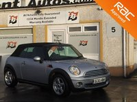 USED 2010 10 MINI CONVERTIBLE 1.6 COOPER 2d 120 BHP One Owner ,Bluetooth , Half Leather ,Auto start /stop