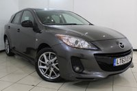 USED 2013 63 MAZDA 3 1.6 VENTURE EDITION 5DR103 BHP FULL SERVICE HISTORY + CRUISE CONTROL + PARKING SENSOR + MULTI FUNCTION WHEEL + CLIMATE CONTROL + 17 INCH ALLOY WHEELS