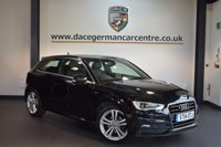 USED 2014 14 AUDI A3 2.0 TDI S LINE 3DR 148 BHP + HALF BLACK LEATHER INTERIOR + FULL AUDI SERVICE HISTORY + 1 OWNER FROM NEW + BLUETOOTH + SPORT SEATS + DAB RADIO + CRUISE CONTROL + RAIN SENSORS + PARKING SENSORS + 18 INCH ALLOY WHEELS +
