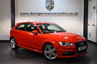 USED 2014 14 AUDI A3 1.6 TDI S LINE 3DR AUTO 104 BHP + HALF BLACK LEATHER INTERIOR + FULL AUDI SERVICE HISTORY + 1 OWNER FROM NEW + SATELLITE NAVIGATION + HEATED SPORT SEATS + BLUETOOTH + DAB RADIO + CRUISE CONTROL + RAIN SNESORS + PARKING SENSORS + 18 INCH ALLOY WHEELS +