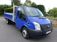 USED 2012 62 FORD TRANSIT 350 Ex Lwb Dropside With Tailift 2.2 Tdci 100Ps Very Clean Example Direct From Leasing Company With Full Service History