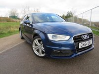 USED 2014 64 AUDI A3 2.0 TDI S LINE 5d 148 BHP Lovely car with low miles