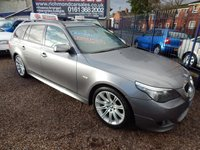 USED 2007 07 BMW 5 SERIES 3.0 525D M SPORT TOURING 5d AUTO 195 BHP BLACK LEATHER, SAT NAV, FRONT AND REAR PARKING SENSORS, FULL SERVICE HISTORY,