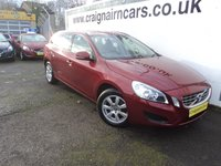 USED 2012 62 VOLVO V60 1.6 D2 ES 5d AUTO 113 BHP Two Owners 41000 Miles Full Service History