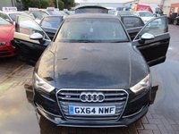 USED 2014 64 AUDI A3 2.0 S3 QUATTRO 4d AUTO 296 BHP BIGGEST SPEC IN THE UK