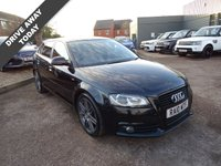 2010 AUDI A3 2.0 SPORTBACK TFSI S LINE SPECIAL EDITION 5d 197 BHP £9950.00