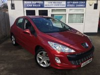 USED 2009 59 PEUGEOT 308 1.6 SPORT 5d 118 BHP 55K FSH  ONE OWNER  BEAUTIFUL RED METALLIC  EXCELLENT CONDITION