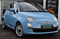 2012 FIAT 500 1.2 LOUNGE 3d 69 BHP STOP/START £30 P/YEAR ROAD TAX £5490.00