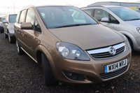 USED 2014 14 VAUXHALL ZAFIRA 1.7 DESIGN NAV CDTI ECOFLEX 5d 108 BHP * LOW OR NO DEPOSIT FINANCE AVAILABLE *